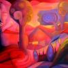 Marion Lucka: Akt bei Sonnenaufgang, Öl, 90 X 110 cm (1994)