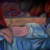 Marion Lucka: Träumende, Öl, 70 x 100 cm (2012)