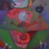 Marion Lucka: Es fängt wieder an, Öl 60 x 80 cm (2004)