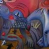 Marion Lucka: Frau am Jahresanfanng, Öl, 70 x 100 cm (2014)