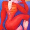 Marion Lucka: Gespalten, 50 x 70 cm (2005)