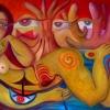 "Marion Lucka: Ölgemälde ""Gestrandete"" 120 x 80 cm ( August 2021)"