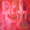 Marion Lucka: keine Lust, Öl, 60 x 60 cm (2004)