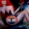 Marion Lucka: Frau mit Baum im Bauch, 30 x 40 cm (1994)