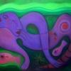 Marion Lucka: Trennungsakt, Öl, 60 x 80 cm (2005)