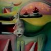 Marion Lucka: Am grünen Meer, 30 x 40 cm (1990)