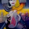 Marion Lucka: Bedrängnis, 50 x 60 cm (1997)