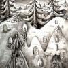 Marion Lucka: Weihnachten, Aquarell (1991) present