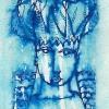 "Aquarell "" Januarblau"" 5 x 8 cm (2019)"