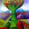Marion Lucka: Baum, Aquarell, 30 x 40 cm (1991)