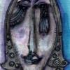 Marion Lucka: Gesicht, Aquarell (2003)