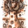 Marion Lucka: Goldbaum, Aquarell, 19 x 15 cm (2012)