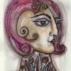 "Marion Lucka: Aquarell ""Junikopf 2"" 13 x 17 cm (2018)"