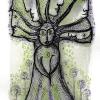 "Marion Lucka: Aquarell "" Grünbaum"" 10 x 15 cm (4. März 2018)"