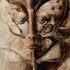 "Marion Lucka: Aquarell ""Schmettering"" 20 x 30 cm (1988)"