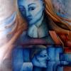 "Marion Lucka: Aquarell ""Spinx"" 30 x 40 cm (1984)"