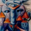 Marion Lucka: Toter Hausgeist, Aquarell (1991)