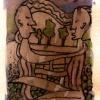 Marion Lucka: Umarmung, Aquarell, 15 x 20 cm (1993)