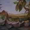 """Aquarell """" Wüste"""" 30 x 40 cm (1982)"""