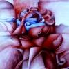 Marion Lucka: Wut, Aquarell, 30 x 50 cm (1986)