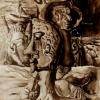 "Marion Lucka: Aquarell ""Oktober"" 10 x 20 cm (1988)"