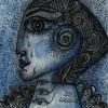 "Marion Lucka: Aquarell "" Gefühl"" 7 x 7 cm (2017)"