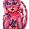 Marion Lucka: Rote Katze, Aquarell (2010)