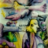 Marion Lucka: Atlantis, Aquarell, 60 x 80 cm (1993)