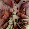 Marion Lucka: Am Blutbaum. Aquarell, 50 x 60 cm (1986)