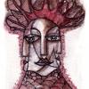 Marion Lucka: Aquarell, Neujahrsbaum 1 (2017)
