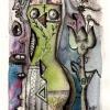 "Marion Lucka: Aquarell ""Kleiner Akt"" 15 x 20 cm (1992)"