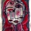 "Marion Lucka: Tusche/Aquarell ""Palmsonntag"" 11x 15 cm (2017)"