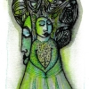 "Marion Lucka: Aquarell "" Baumengel"" 10 x 15 cm (2018)"