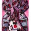 Marion Lucka: Aquarell, Neujahrsbaum 2 (2017)