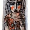 Marion Lucka: Oktoberschmetterlinge, Aquarell 7 x 12 cm (2016)