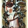 "Marion Lucka: Aquarell "" Oktober5"" 7 x 11 cm (2016)"