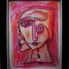 "Marion Lucka: Aquarell "" pink"" 20 x 30 cm (2017) sold"
