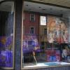 Fenster im ehemalige Dekado-Geschäft in Mrktredwitz (März 2018)