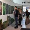 "Kunstnacht im Factory In, Selb (2018) "" Grüne Farbwelten""(Foto: F. Miedl)"