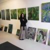 """Ausstellungsaufbau zur Kunstnacht 2018 im Factory In """"Grüne Farbwelten"""""""