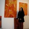 """Marion Lucka: """"Rote Bildergeschichten"""" im Modewerk-Viania Dessous zur Kunstnacht 2017 (Aufbau)"""