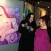 Marion Lucka : Ausstellung in der Sparkasse Hochfranken Hof mit der Sängerin Gerdi Baumgärtel (2013)