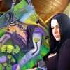 Marion Lucka: Frau mit Sommerkorb entsteht (2013)