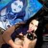 Marion Lucka: Frau mit Katze ensteht (2012)