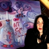 Marion Lucka: Stillleben mit dunklen Rosen (2010)