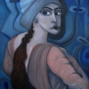 Marion Lucka: Blickende, Öl, 60 x 80 cm (2009)