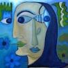 Marion Lucka: Portrait, Öl, 60 x 60 cm (2004)