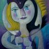 Marion Lucka: Pauline, Öl, 60 x 70 cm (2001)