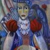 Marion Lucka: Apfeldame, 70 x 80 cm (2015)