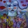 Marion Lucka: Sommerkind, Öl, 50 x 50 cm (2013)